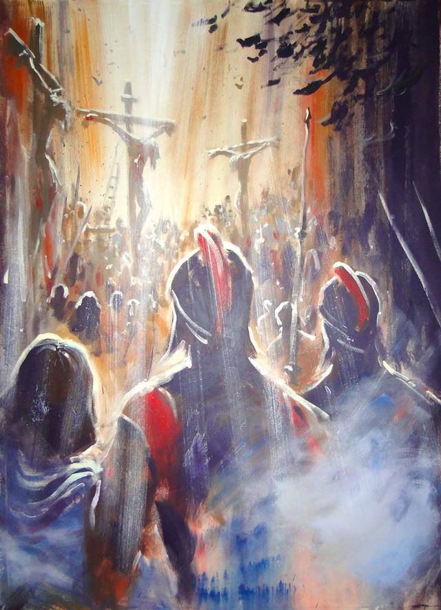 Crucifixion Of Jesus-Mural