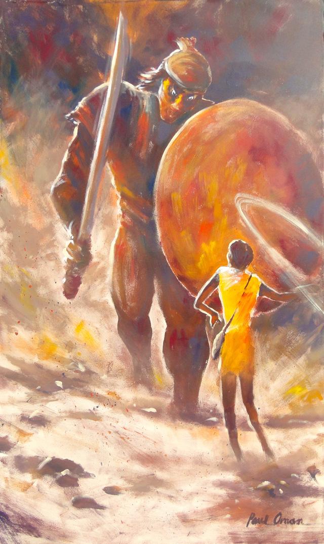 David and Goliath-Mural