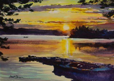 Walleyes at Sunset