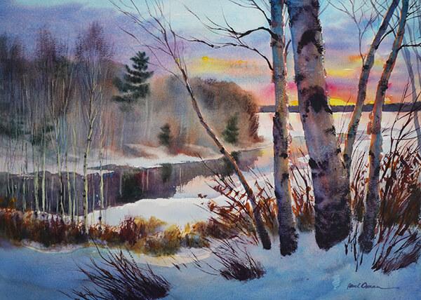 Ojibwa Inlet Original Watercolor