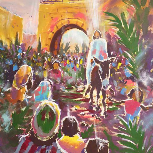 Triumphal Entry Into Jerusalem - Print - Biblical Art
