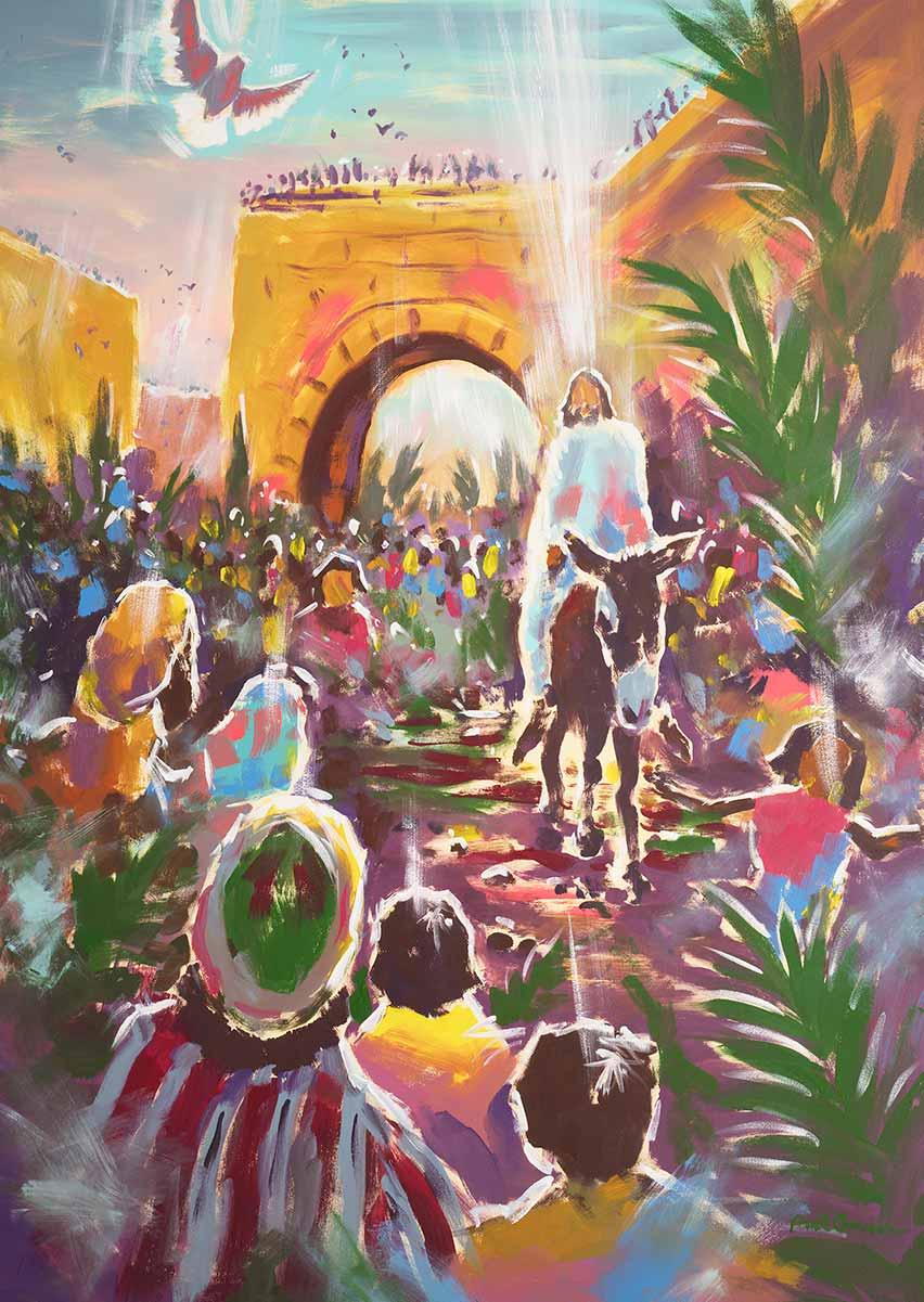 Triumphal Entry Into Jerusalem - Print - Biblical Art