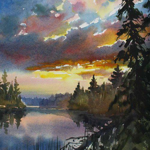 Distant Dreams - original watercolor by Paul Oman