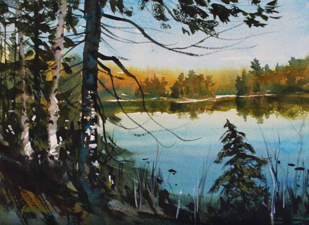 Spruce Bay - original watercolor by Paul Oman