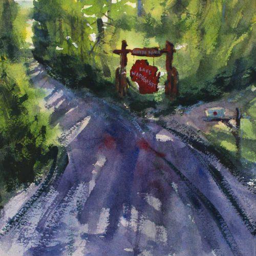 Sunrise Beach Road - original watercolor by Paul Oman